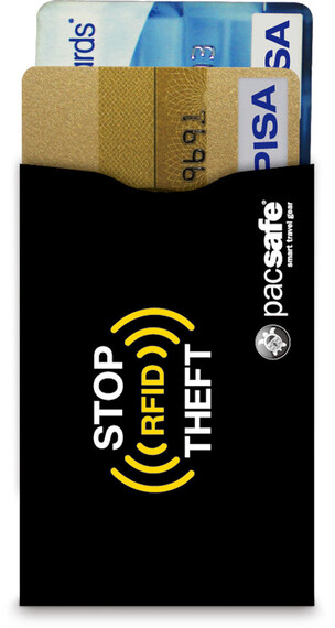 Pacsafe RFIDsleeve 25 Credit Card Sleeve 2 Pack Black